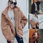 Winter Trendy Causal Coat Imitation Fur Plush Loose Warm Coat for Women xxf