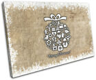 Christmas Decoration Wall Canvas ART Print XMAS Picture Gift Hessian 02  Christm