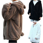 Winter Women Girl Winter Warm Cute Bear Ear Hooded Coat Hoodie Jacket Outerwear