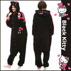 Cute HelloKitty Cat Cosplay Kigurumi Unisex Sleepwear One-piece Pajamas Jumpsuit