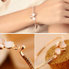Fashion Crystal Bracelet Simulation Opal Bowknot Love Heart Bangle for Women