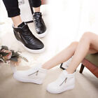 Fashion Women's Casual Warm Flat sole Sneakers PU Leather Inner Heel Shoes Soft