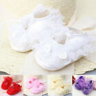 Infant Newborn Baby Girls Cute Lace Anti-slip Socks Soft Sole Shoes Prewalker