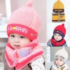 Baby Fashion Fleece Contrast Color Beanie Knitted Warm Winter Hat with DZ88 01
