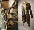 Camouflage Ripped Slashed Military Army Punk Long Cardigan 250 mv Jacket S M L