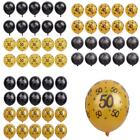 20/set Gold & Black Latex Balloons for 30th 40th 50th Birthday Party Decoration