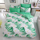 Leaf Doona/Duvet/Quilt Cover Set Single/Queen/King Size Flat Sheet Pillow Cases