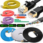 RJ45 CAT7 Network Ethernet SSTP 10Gbps Gigabit LAN Flat Round Cable 2M 3M 5M 10M