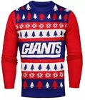 NWT NFL New York Giants Light 'em Up Men's Christmas Ugly Sweater Lights