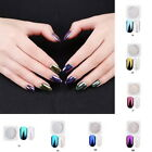 CERAMIC Nails Mirror SHELL Powder Shiny PEARL White Chrome Pigment Colors Tips