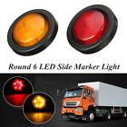 1/2/5pcs Round 6 LED Bullet Side Marker Light Boat Car Truck Trailer Lorry Lamp