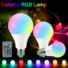 Effective Colorful Bulb 3/5/10W E27 RGB LED Lamp Dimmable Light+IR Controller B