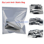 100PCS Anti Static ESD Pack ZIP LOCK Shielding Bag for Motherboard Electronics