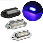 1 or 2 x 6 LED License Plate Blue Light Tag Interior Lamp Car Truck Trailer Boat