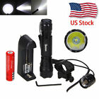 8000LM 501B Tactical Light LED Hunting Flashlight W/Picatinny Rail Scope Mount