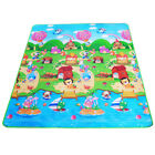 Health Doulble-Side Play Mats Kids Baby Toys Mat River Animal Green Rug Carpet