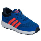 Boys adidas Neo Clouadfoam Race Trainers Blue-Elasticated Laces-Mesh Upper For