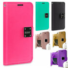For LG Harmony M257 Brushed Hybrid Card Case Phone Cover Accessory +Screen Guard