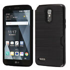 For LG Stylo 3 Brushed Hybrid Card Case Phone Cover Accessory