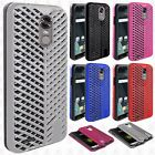 For LG Stylo 3 Zig Zag Shockproof Hybrid Rubber Silicone Cover +Screen Protector