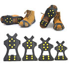 1 Pair Outdoor Ice Snow Shoe Boot Spikes Grips 10-Stud Crampons Anti Slip Hiking