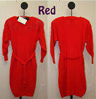 4916 Belldini Red Blue White or Black Ladies Acrylic Beaded Sweater Dress - NWT