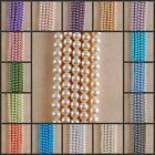 """HB1094-1120 8mm Wholesale Glass Pearl Ball Loose beads 15"""""""