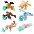 1Pc Animal Baby Nipple Infant Silicone Pacifiers with Cuddly Plush Toys