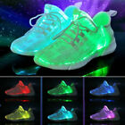 Men Boy Luminous Sport Shoes USB Charging Led Light Lace Up LED Fashion Sneaker
