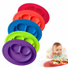 Non-slip Silicone Integrated Round Smiley Place mat Kid Feeding Food Tray Plate