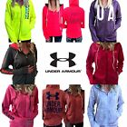 Внешний вид - WOMENS UNDER ARMOUR Jacket UA ColdGear Logo Full Zip Hoodie S M L XL Pink Black
