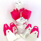 MINI GIFT BOXES FUCHSIA PINK or SILVER. 6.5 x 6.5cm. WEDDING FAVORS, PARTY PACKS