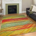 Modern Design Multi Area Rug  Rio Contemporary Style Colorful Rainbow Carpet