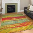 Modern Design Multi Colour Area Rug  Rio Contemporary Style Rainbow Carpet Thin