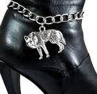 Wolf Spirit Animal Boot Bracelet Jewelry Bling Chain Wolves Accessory Full Moon