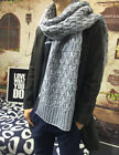 Wool Scarves To Increase Thick Winter Solid Color Men And Women Couple Scarf New