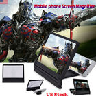 US Foldable Cell Phone Screen Magnifier HD Expander With Stand Universal 3D