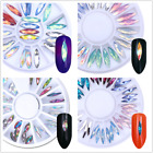 Chameleon Marquise Nail Art Rhinestone Flat Bottom 3D Studs Decoration in Wheel