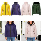 1PC Women Quilted Padded Puffer Bubble Fur Collar Warm Thick Jacket Coat Outwear