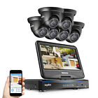 SANNCE 8CH 1080N DVR LCD Monitor 1500TVL Outdoor IR Home Security Camera System