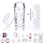 2Pcs/set Nail Art Rose Gold Jelly Clear Silicone Stamper & Scraper Stamping Tool