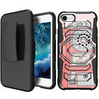 """For Apple iPhone 8 (4.7"""") 2017 Holster Clip Stand Armor Case - Vintage Designs"""