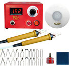 50W Multifunction Pyrography Machine Wood Burning Pen + Tip Set Hobby Craft Tool