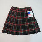 New NWT Royal Park Skirt Style 137 color 63 Red Black Plaid Girls School Uniform