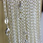"""Wholesale 20pcs-lot 925 Sterling Silver Chain Necklace 16-30"""" 5 Style Jewelry"""