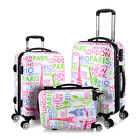 Hard Shell 4 Wheel Spinner PC Suitcase Case Building Design Luggage Travel Bag