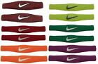NIKE* 2pc DRI-FIT Sports SWOOSH BICEP BANDS Sweat Wicking OSFM New! *YOU CHOOSE*
