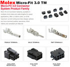 Внешний вид - Molex 2, 4, 6, 8, 10 Pins Male & Female Housing w/ Pins 20-24 AWG Micro-Fit 3.0™