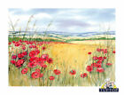 Tuftop Glass Chopping Board Poppies Scen...