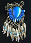 Leaves Vintage Bohemian Statement Jewelry Tassels Pendants Necklace Feather